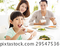 happy young Family enjoy their  dinner 29547536