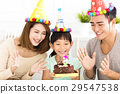happy Family Celebrating daughter's  Birthday 29547538