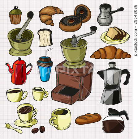 doodle coffee set 29548086