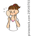 acne, girl, hand mirror 29549703