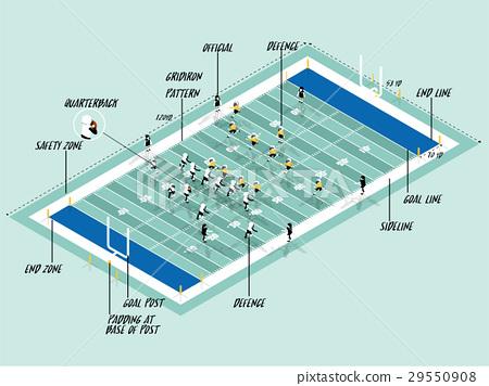 american football sport info graphic design 29550908