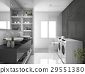 modern black laundry room and toilet 29551380