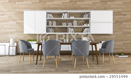 wood dining room  and meeting room  29551499