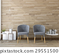 vintage armchair with wood wall and decor 29551500