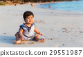 嬰兒 寶寶 海灘 29551987