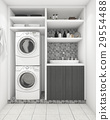 beautiful modern white laundry room with decor 29554488
