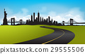 Vector of the New York skyline Green Environment 29555506