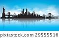 Vector of the New York skyline blue sky 29555516