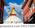 The Wisdom eyes on Boudhanath stupa landmark  29557400