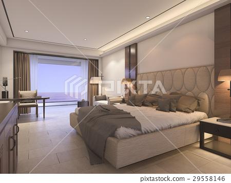 classic bedroom with luxury decor 29558146