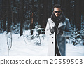 Fashionable handsome man in winter coat 29559503