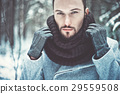 Fashionable handsome man in winter coat 29559508