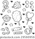 Doodle of candy various vector art 29560956