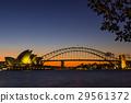 호주 시드니의 오페라 하우스와 하버 브리지 29561372