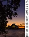 호주 시드니의 오페라 하우스와 하버 브리지 29561375