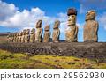 Moais statues, ahu Tongariki, easter island 29562930