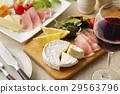 开胃菜 腌火腿 奶酪 29563796