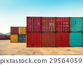 An area yard of cargo container shipping. 29564059