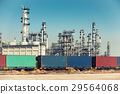 Refinery oil and gas plant and cargo shipping. 29564068