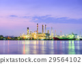 An oil refinery plant at sunrise scene. 29564102