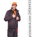 Worker in uniform with orange cap 29564433