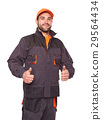 Worker with thumbs up 29564434