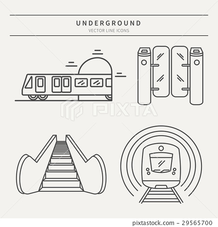 Metro linear vector icons 29565700