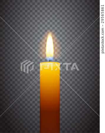 Realistic burning candle 29565861