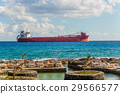 argo freight ship in the caribbean sea. Freight 29566577