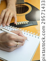 Music Composer Hand Writing Songs 29571433