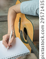Music Composer Hand Writing Songs 29571435