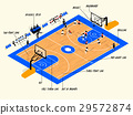Illustration info graphic of basketball match 29572874