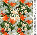 amaryllis seamless pattern 29573620