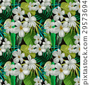 tropical floral pattern 29573694