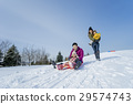 family, winter, playing 29574743