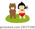 金太郎 菱形圍裙 熊 29577288