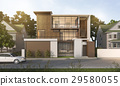 nice modern style wood house in beautiful village 29580055