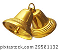 bell, gold, christmas 29581132