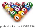 Set of color billiard balls 29581134