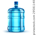 19 liter or 5 gallon plastic drink water bottle 29581140