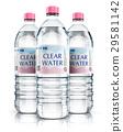 Group of plastic drink water bottles 29581142