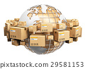 Global shipping and worldwide logistics concept 29581153