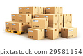 Cardboard boxes on shipping pallets 29581154