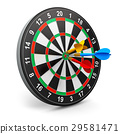 Dartboard with arrows 29581471