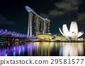 Singapore business district skyline 29581577
