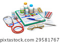 Medical supplies and prescription forms 29581767