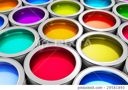 Color paint cans 29581893
