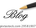 Internet blog concept 29581907
