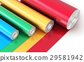 Rolls of color PVC plastic tape 29581942