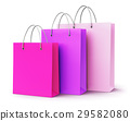 Group of pink paper shopping bags 29582080
